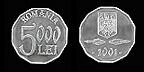 moneda de 5.000 lei vechi
